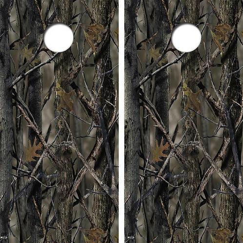 Camoflauge Cornhole Wood Board Skin Wrap