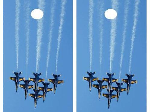 Fighter Jets Cornhole Board Skin Wraps FREE LAMINATE