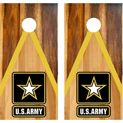 U.S. Army Two Tone Wood Cornhole Wood Board Skin Wrap