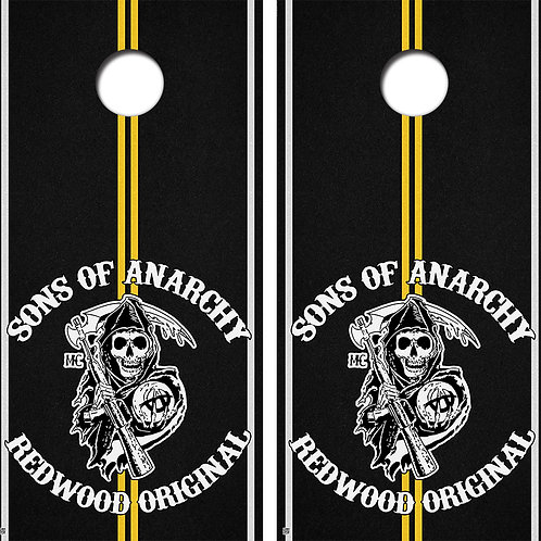 Sons of Anarchy Cornhole Board Skin Wrap FREE LAMINATE
