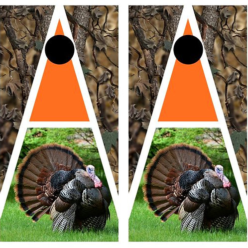 Tom Turkey Cornhole Wood Board Skin Wrap