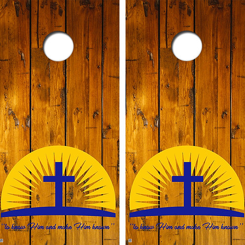Cross Wood Cornhole Board Wraps FREE LAMINATE