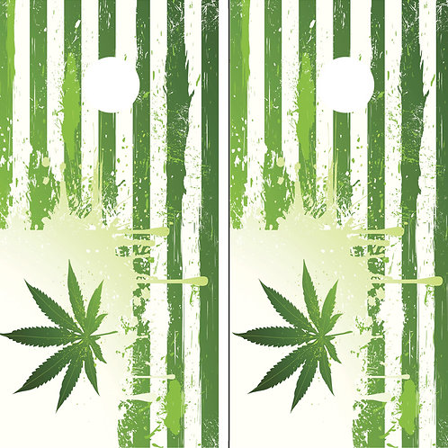 Cannabis American Flag Cornhole Wrap FREE LAMINATE