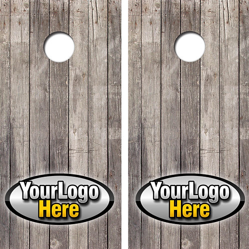 Your Logo Here ANY Color, Any Logo Cornhole Wood Board Skin Wraps FREE LAMINATE