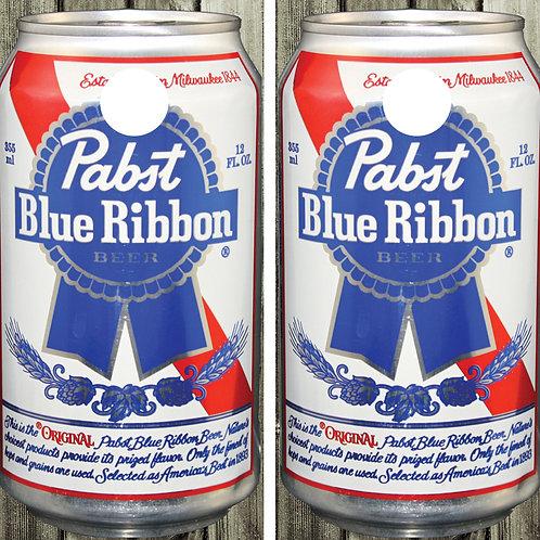 Pabst Blue Ribbon Can Cornhole Wrap FREE LAMINATE