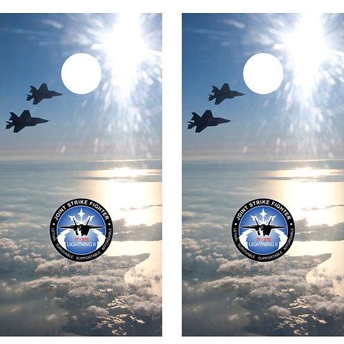 F-35 Lightning II Cornhole Board Wraps FREE LAMINATE
