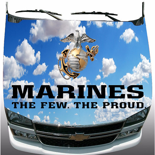 USMC-Marine-Corps-Hood-Wrap-Vinyl-Graphic-Decal-Sticker-Wrap-Truck     USM