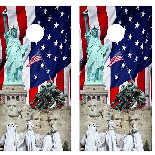 America Cornhole Board Wraps FREE LAMINATE