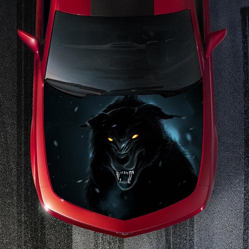 Big-Bad-Black-Wolf-Vinyl-Graphic-Decal-Hood-Wrap-For-Truck-or-Car     Big-