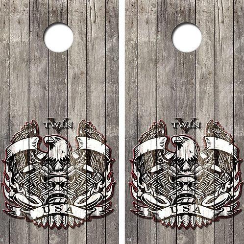 V-Twin USA Eagle Cornhole Wood Board Skin Wrap