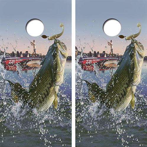 Bass Fishing Cornhole Boar FREE LAMINATE