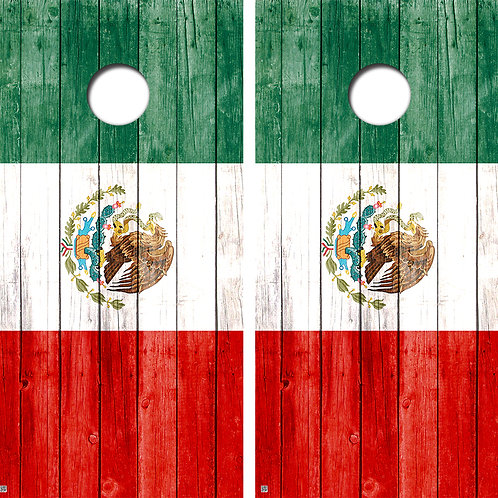 Mexican Flag Conhole Board Skin Wraps FREE LAMINATE