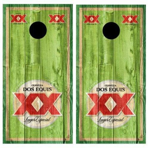 Dos Equis Barnwood Cornhole Wood Board Skin Wraps