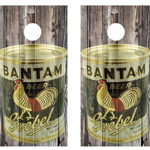 Vintage Bantam Goebel Beer -  Beer Can Barnwood Cornhole Wood B