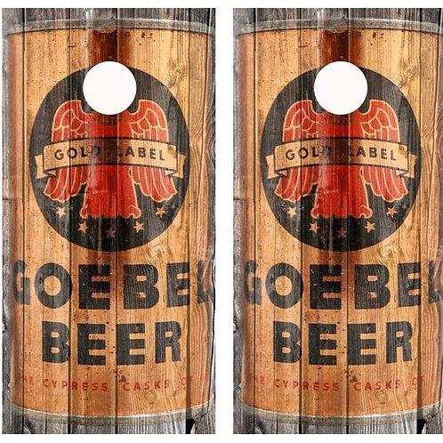 Vintage Goebel Beer - Beer Can Barnwood Cornhole Woo