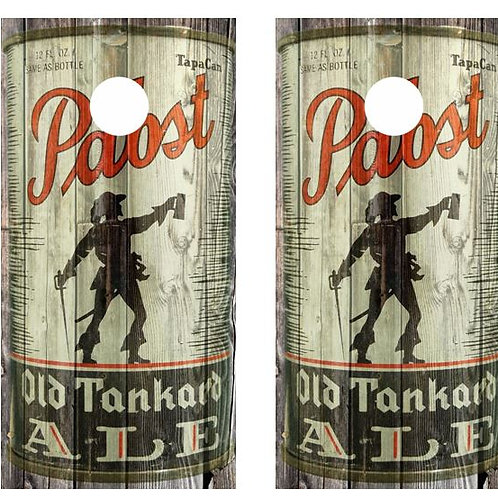 Vintage Pabst Old Tankard Ale -  Beer Can Barnwood Cornhole Wood B
