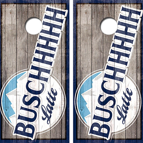 Busch Latte Beer Cornhole Wood Board Skin Wraps FREE LAMINATE