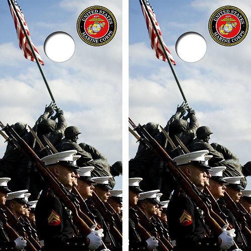 US Marines Cornhole Wood Board Skin Wraps FREE LAMINATE