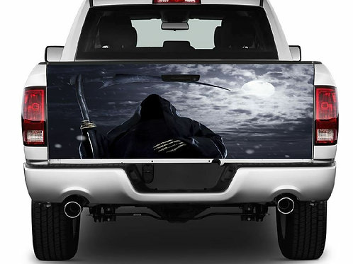 Grim Reaper Truck Tailgate Wrap Vinyl Graphic Decal Sticker