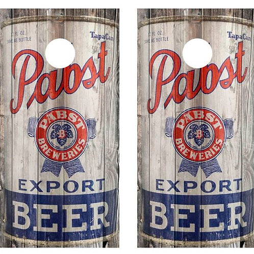 1935 Pabst Blue Ribbon Beer Can Barnwood Cornhole Wood Board Skin Wraps