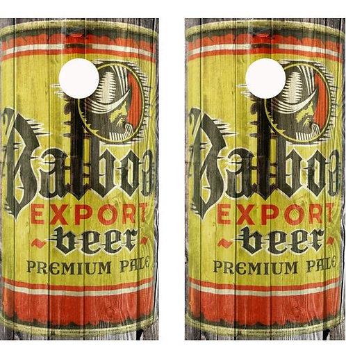 Vintage Balboa Export Beer -  Beer Can Barnwood Cornhole Wood B