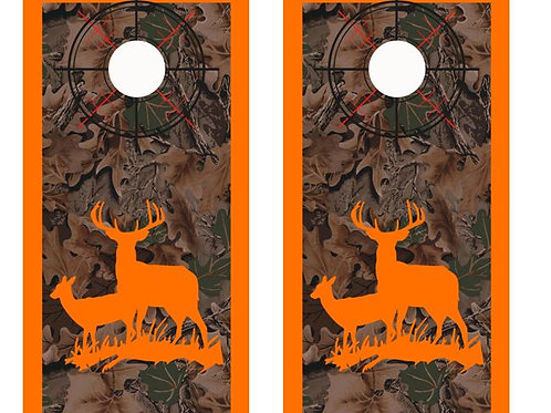 Deer Hunter Real Tree Camo Cornhole Wood Board Skin Wr