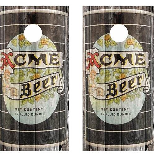 Vintage Acme Beer -  Beer Can Barnwood Cornhole Wood B