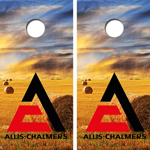 Allis Chalmers Field Cornhole Board Wraps FREE LAMINATE