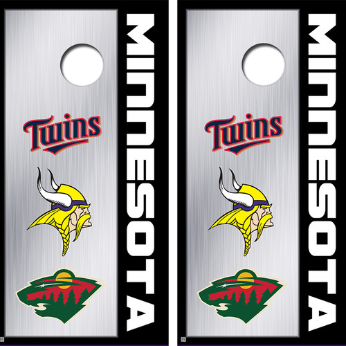 minnesota sports teams cornhole board skin wraps - Cornhole Board Wraps