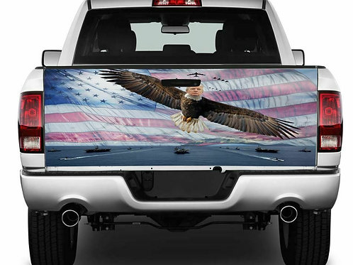 Trump Eagle Tailgate Wrap Vinyl Graphic Decal Sticker