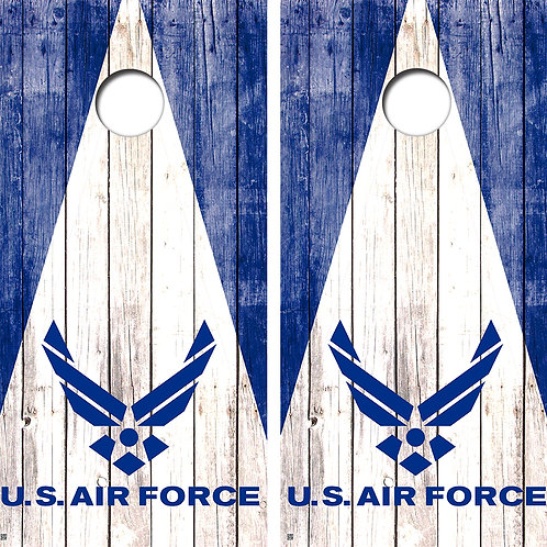 U.S Air Force Triangle Cornhole Board Wraps FREE LAMINATE