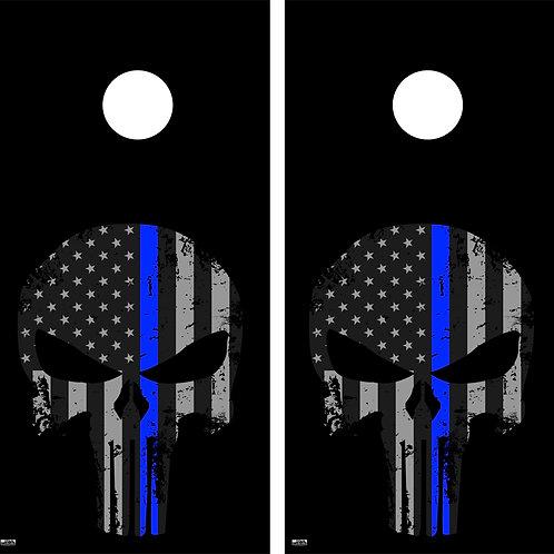 Punisher Skull Flag Cornhole Board Skin Wrap FREE LAMINATE