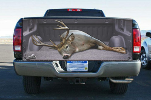 Giant White Tail Buck Truck Tailgate Wrap Vinyl Graphic Decal Sticker Wrap