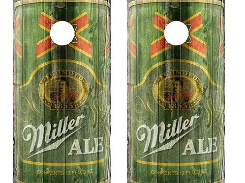 Vintage Miller Ale -  Beer Can Barnwood Cornhole Wood Board