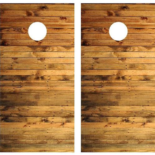 Pallat Wood Cornhole Wood Board Skin Wrap