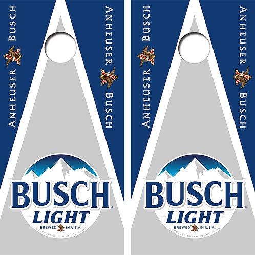 Busch Light Cornhole Wood Board Skin Wraps FREE LAMINATE