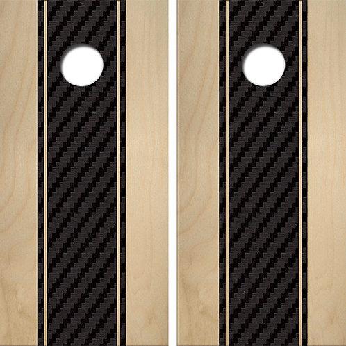 Carbon Fiber Birch Cornhole Wood Board Skin Wrap