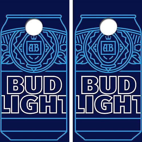 Bud Light Summer Cornhole Wood Board Skin Wraps FREE LAMINATE