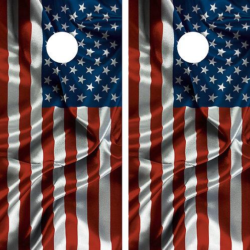 American Flag USACornhole Wrap FREE LAMINATE