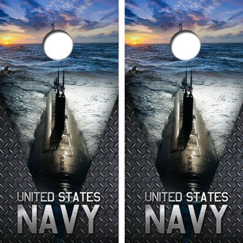 United States Navy Cornhole Wood Board Skin Wrap