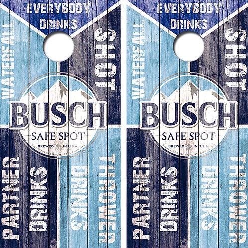 Bud Light Drinking Game Cornhole Wood Board Skin Wrap