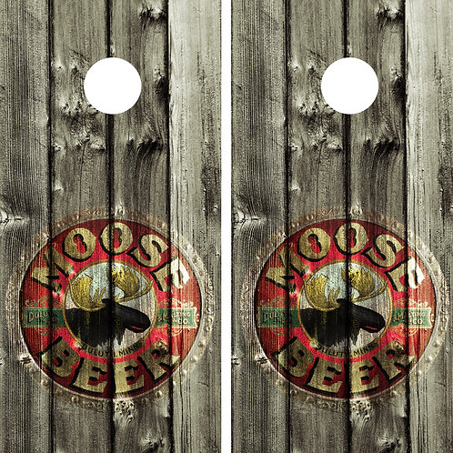 Moose Beer Sign Vintage Cornhole Wrap FREE LAMINATE