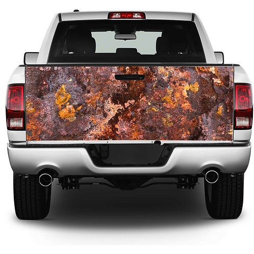 Rusted Tailgate Wrap Vinyl Graphic Decal Sticker