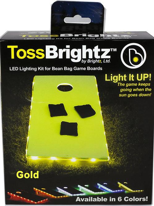 Brightz Ltd. Toss Brightz Cornhole LED Lighting Kit Gold