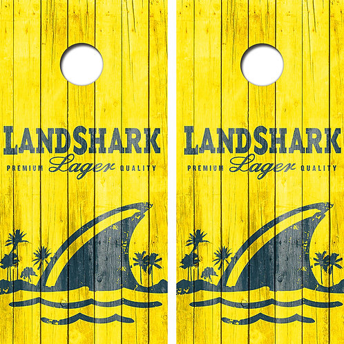 Land Shark Cornhole Wood Board Skin Wraps FREE LAMINATE