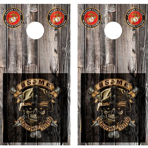 USMC Wood Cornhole Boards FREE LAMINATE