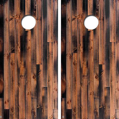 Polished Wood Cornhole Board Skin Wraps FREE LAMINATE
