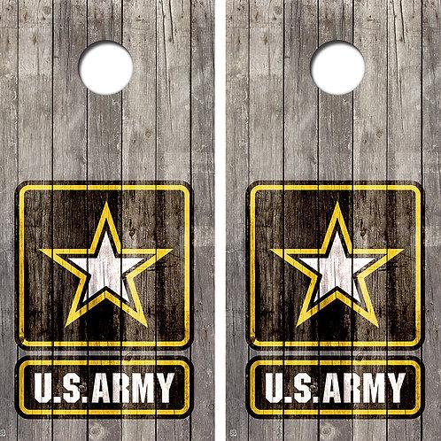 U.S. Army Vintage Cornhole Wrap Decal FREE LAMINATE