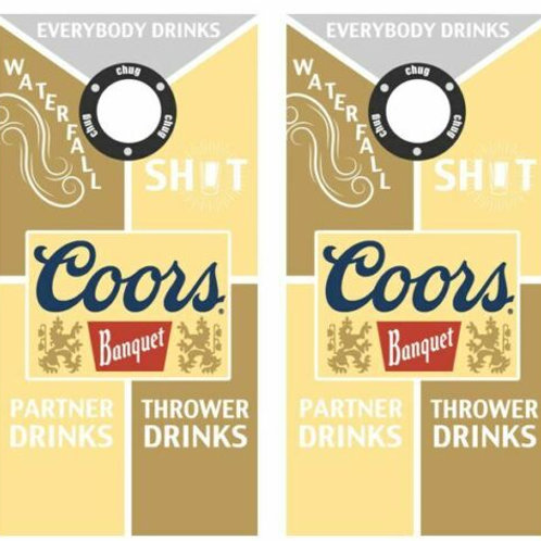 Coors Drinking Cornhole Wood Board Skin Wrap