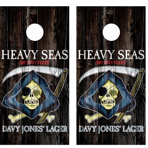 Heavy Seas Davy Jones Lager Barnwood Cornhole Wood Board Skin Wr